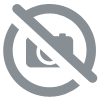 GALON POMPONS COTON BLEU 11 MM
